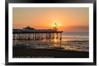 Herne Bay Pier Sunset, Framed Mounted Print