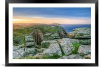 Lands End Sunrise, Cornwall, Framed Mounted Print