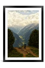 Alpine Viewpoint, Framed Mounted Print
