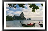 Thailand Evening, Framed Mounted Print