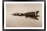 Sepia image of the Vulcan, Framed Mounted Print