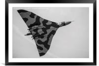 Monochrome image of the Vulcan, Framed Mounted Print