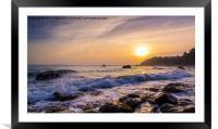Meadfoot Sunset, Torquay, Framed Mounted Print