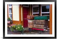 Railway Luggage on the Platform, Framed Mounted Print