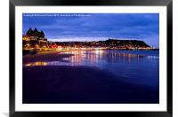 South Bay, Scarborough North Yorkshire, Framed Mounted Print