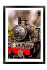 GWR Steam Engine 5199, Framed Mounted Print