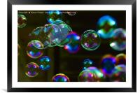 Blowing Bubbles Floating in the Air, Framed Mounted Print