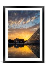 Louvre Sunset, Framed Mounted Print