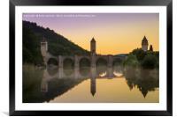 Pont Valentre Cahors, Framed Mounted Print