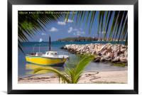St Maarten Boat, Framed Mounted Print