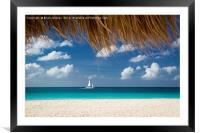 Sailboat off Eagle Beach - Aruba, Framed Mounted Print