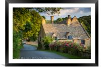 Snowshill Cottage, Framed Mounted Print