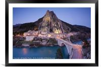 Sisteron, Framed Mounted Print