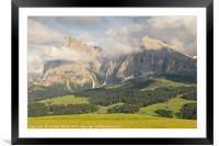 Alpe di Suisi, Framed Mounted Print