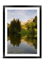 Lac de Fontaine, Framed Mounted Print