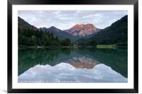 Lac De Vallon, Framed Mounted Print