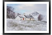 Black Rock Cottage Glencoe, Framed Mounted Print