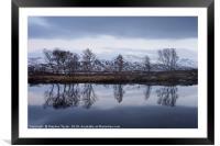 Steely Skies on Rannoch Moor, Framed Mounted Print