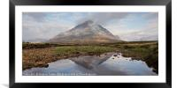 Clearing clouds in Glencoe, Framed Mounted Print