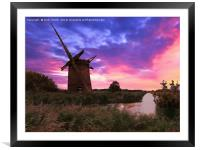Brograve Mill  , Framed Mounted Print