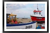Aldeburgh Fishing Boats, Framed Mounted Print