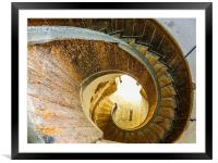 Spiral staircase at Upnor Castle , Framed Mounted Print