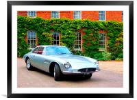 Iconic Ferrari at Hedingham Castle, Framed Mounted Print