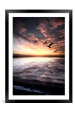 Water and Heaven, Framed Mounted Print