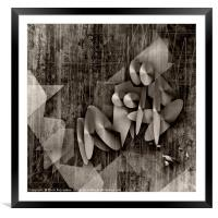 Trip To Orange As Black And White, Framed Mounted Print