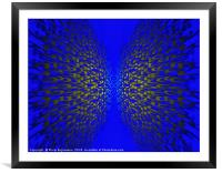 Everything Blue, Framed Mounted Print