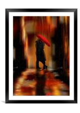 A deluge of love fantasy love and romance, Framed Mounted Print