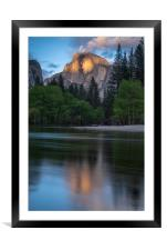Half Dome at Sunset, Framed Mounted Print