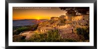 Volterra Sunset, Framed Mounted Print