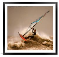 Windsurfing the Storm , Framed Mounted Print