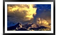 Clouds Over The Cuillins ( Painter version ), Framed Mounted Print