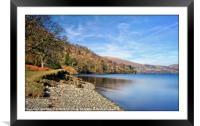 """""""Ullswater Lake-side"""", Framed Mounted Print"""