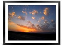 Sunset,, Framed Mounted Print