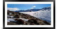 The beauty of snow on mountain,, Framed Mounted Print