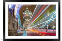 Tower Bridge Whoosh, Framed Mounted Print