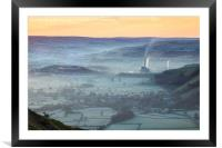 Sheep above the Hope Valley, Framed Mounted Print