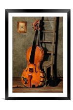 No More Music, Framed Mounted Print
