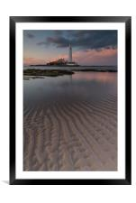 Ripples in the Sand, Framed Mounted Print