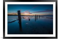 Posting Sunset, Framed Mounted Print