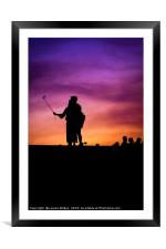 Love at sunset, Framed Mounted Print