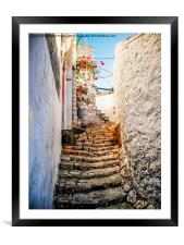 Stairway to the monastery., Framed Mounted Print