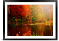 Autumn Reflected, Framed Mounted Print