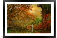 Autumn On My Mind , Framed Mounted Print