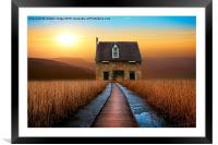 the little brick House , Framed Mounted Print