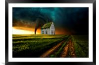 Stormy weather , Framed Mounted Print
