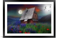 the little cabin , Framed Mounted Print